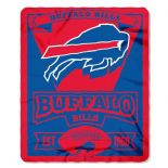 Buffalo Bills Fleece Throw Blanket, Marquee Design